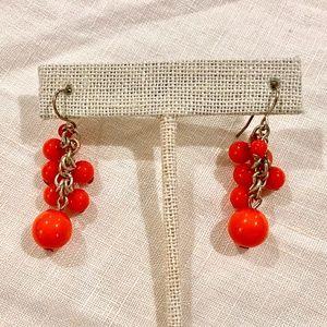 Chili Pepper Beaded Dangle Earrings
